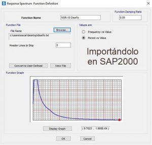 NSR-10 SAP2000